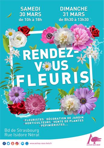 Le 30 et 31 mars les Rendez-vous fleuris à Aulnay-Sous-Bois !
